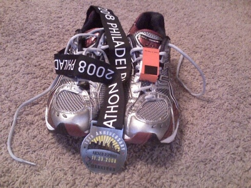 My shoes' first marathon