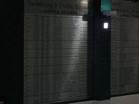Loyola University-Baltimore Record Board