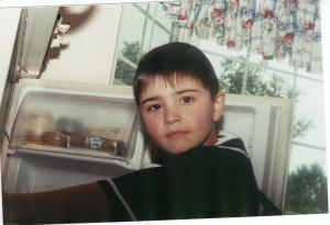 Jake at the fridge 2000